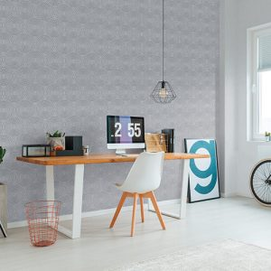 enjoy a calm office with my wallpaper installation